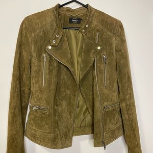 ONLY Suede Jacket in Army Green